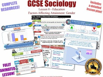 Educational Achievement (2) - Gender - Sociology of Education L8/20 [ AQA GCSE Sociology - 8192] NEW