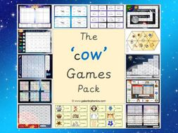 The 'ow' (as in cow) Phonics Games Pack (Phase 3)