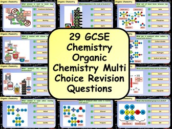 £1 ONLY! KS4 AQA GCSE Chemistry (Science) Organic Chemistry Multiple Choice Revision Questions
