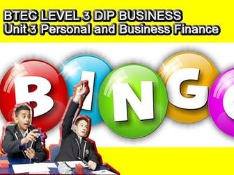 BINGO- Unit 3 Personal and Business Finance