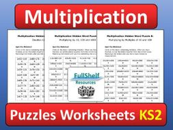 multiplication maths puzzles worksheets ks by fullshelf  teaching  multiplication maths puzzles worksheets ks by fullshelf  teaching  resources  tes