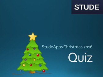 Computing Christmas Quiz 2016