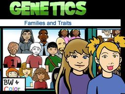 genetics traits and family people 163 pc clipart set great for