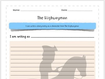 The Highwayman - Writing a Diary Entry