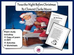 Twas the Night Before Christmas Poem: PPT, Worksheets and Activities
