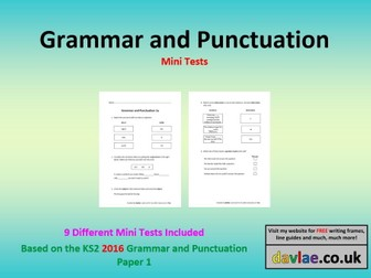 Grammar and Punctuation Mini-Tests 1