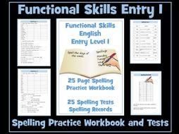 English Functional Skills - Entry Level 1 Spelling