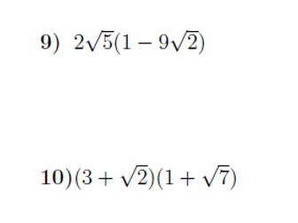 Multiplying out brackets including surds worksheet no 3 (with solutions)