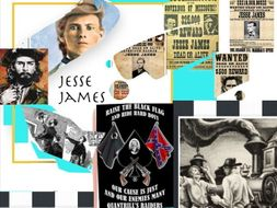 Jesse James ~ Confederate Quantrill Raider ~ Western Outlaw +Test + Flashcards