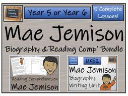 UKS2 Mae Jemison Reading Comprehension & Biography Bundle