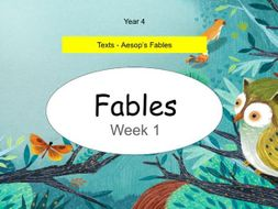 Free: Year 4  Aesop's Fables (Week 1 of 3)