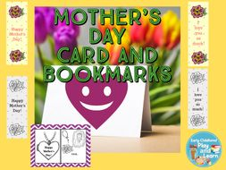 Mother's Day Card and Bookmarks