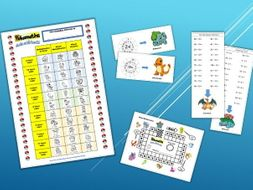 pokemon times table tracker and assessment sheets by miss becky