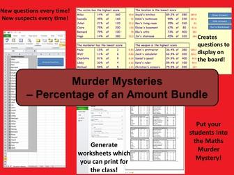 Custom Murder Mysteries - Percentages