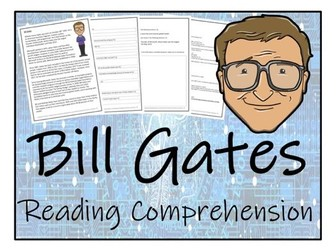 UKS2 Literacy - Bill Gates Reading Comprehension Activity