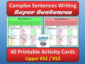 Complex Sentences Writing (Super Sentences)