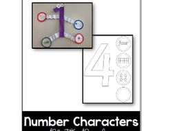 Number Characters Math Display - 1-10 - Math Resource