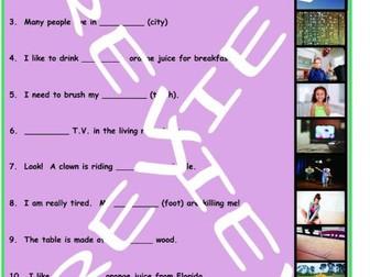 Nouns and Articles 3 Photo Worksheet Set