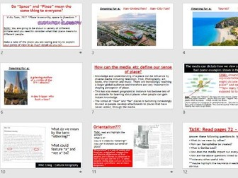 AQA A-LEVEL Changing Places - Types of Place (Lesson + Resources)