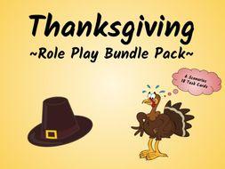 Thanksgiving Speaking Activity (ESL/ELA Role Play Bundle Pack!)