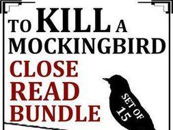 To Kill a Mockingbird Close Reading Worksheets Bundle (Set of 15)