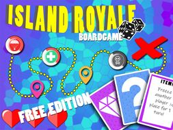 Island Royale - (FREE EDITION) a printable boardgame/quiz for all ages