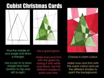 Cubist Christmas Card