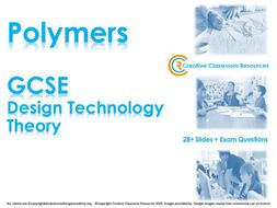 GCSE DT Theory (New Spec) – Types of Polymers (Plastics)