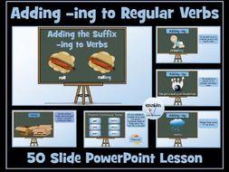 Verbs: Adding -ing To Regular Verbs (Present Continuous Tense)