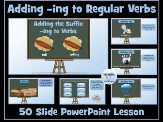 Verbs: Adding -ing To Regular Verbs