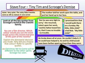 A Christmas Carol - Tiny Tim and Scrooge