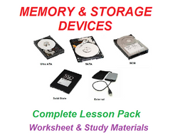 Memory & Storage Devices  Worksheet & Study Materials