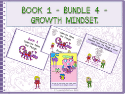 Book 1 -  Bundle 4 - Growth Mindset - Valentine Takes The Plunge,  Bloom's Resource Pack, Bumper Book 1 Resource Pack (including Comprehension Questions) & Poster by The World Of Whyse.