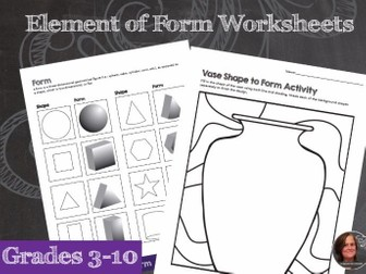 elements of art worksheet packet by aspacetocreate teaching resources tes. Black Bedroom Furniture Sets. Home Design Ideas