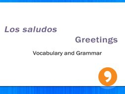 Los Saludos - Greetings - Video Tutorial