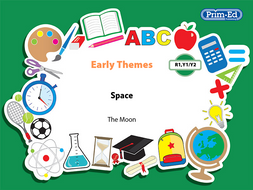 EARLY THEMES: SPACE - THE MOON EBOOK UNIT (Reception, Y1/P2, Y2/P3)