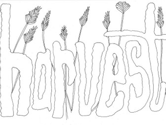 Harvest Themed Colouring Page
