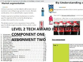 Level 2 Tech Award in Enterprise Component 1 Assignment 2 Exploring Enterprise Workbook & Powepoint
