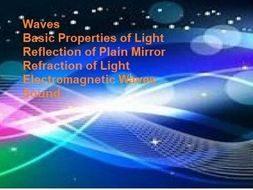 Assesment exercises on  waves, light reflection and refraction. electromagnetic waves, and Sound.