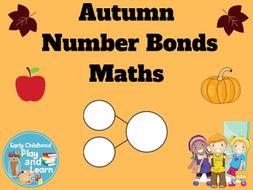 Autumn Number Bonds to 10 Maths Sheets