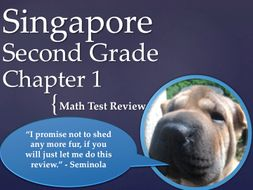 Singapore 2nd Grade Chapter 1 Math Test Review (9 pages)