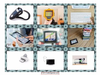 Technology & Gadget Cards 4 Pages = 36 Cards
