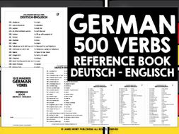 GERMAN VERBS REFERENCE BOOK #1