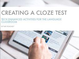 Tech Enhanced Activities - Creating a Close Test