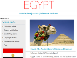 Discover Egypt - Printable Worksheet
