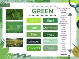 Colour vocabulary- synonym sheets