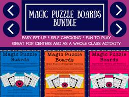 Mathematics Magic Puzzle Boards Grades 4-6