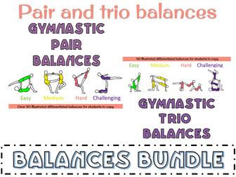 Gymnastics balances - Pair and Trio bundle