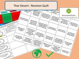 AQA 9-1 GCSE Thar Desert Revision Quilt