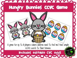 CCVC Word Game - Hungry Bunnies